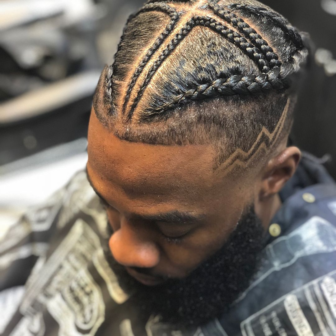 pin anthony lindsay #menwithbraids