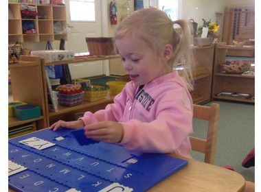 She is working with capital letters on the instalearn board. #PreschoolLanguage