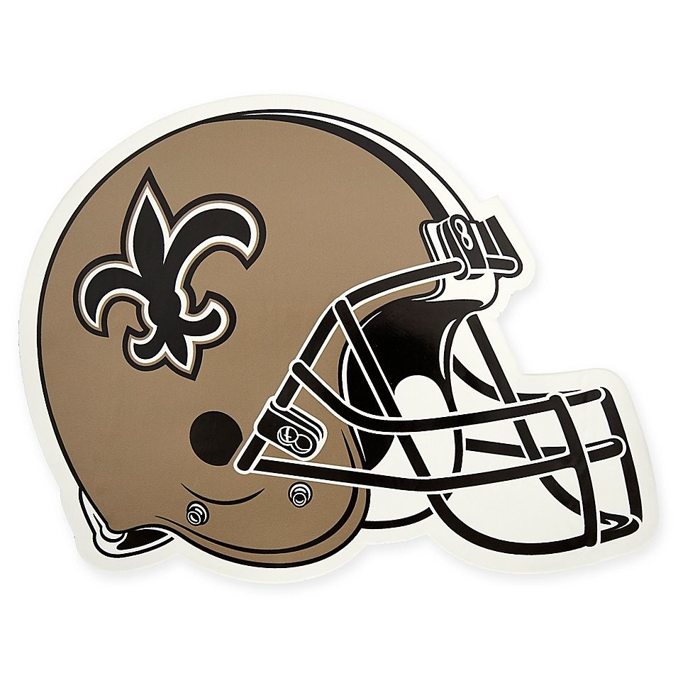 Nfl New Orleans Saints Outdoor Helmet Graphic Decal Multi In 2020