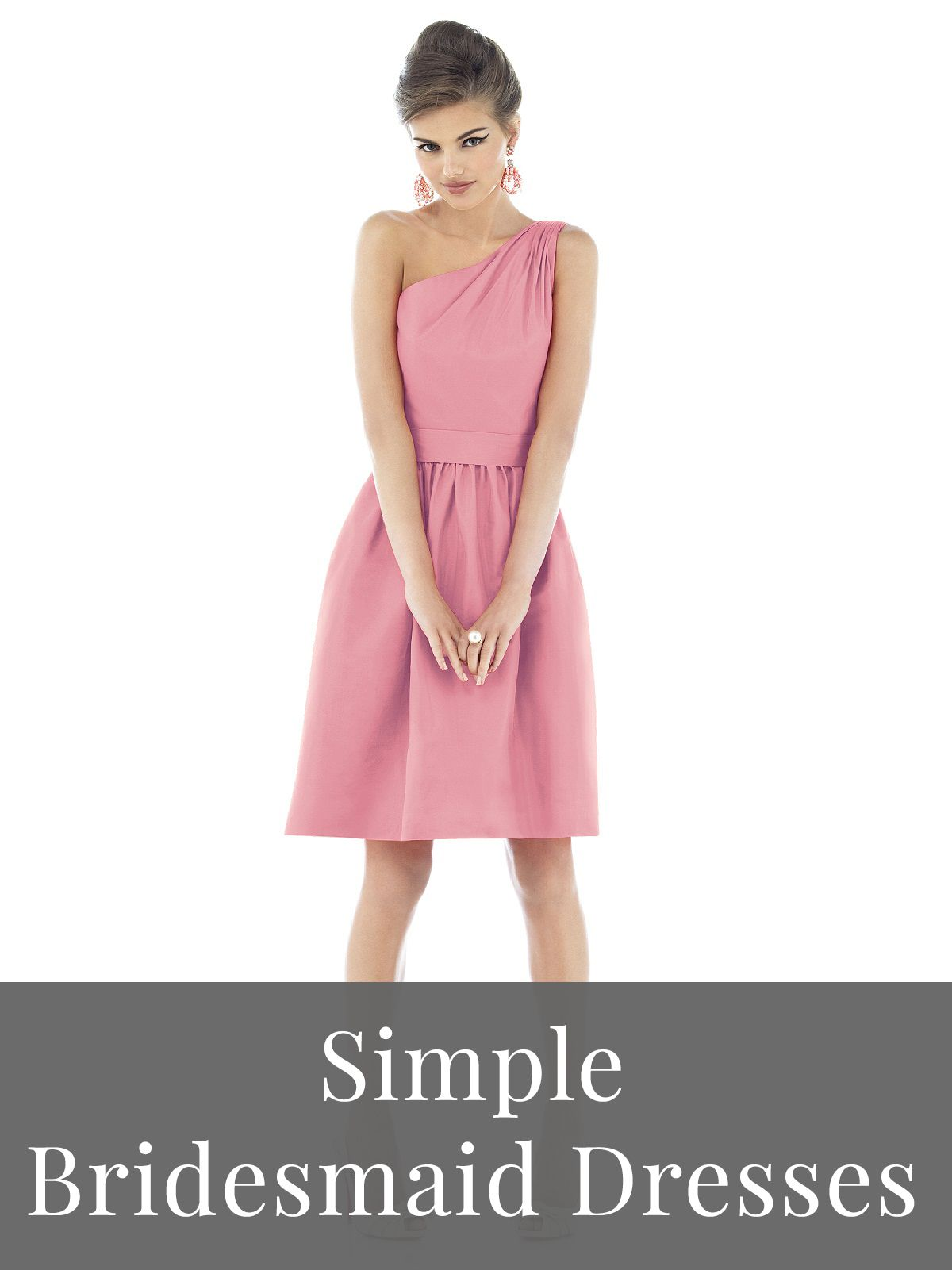 Simple Bridesmaid Dresses by Alfred Sung