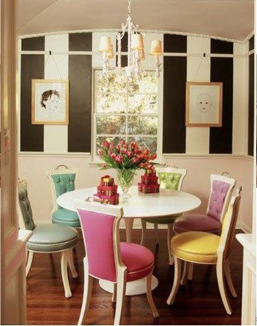 Pin On Spaces To Live In Beautiful cute dining room colorful
