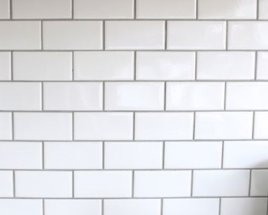 White Subway Tile With Light Gray Grout Allegheny Laundry Room