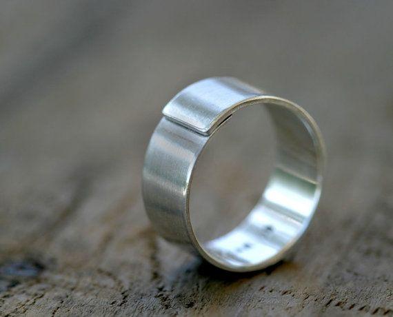Mens Wedding Ring E0319 Etsy Sterling Silver Mens Wedding Bands Modern Mens Wedding Bands Rings For Men