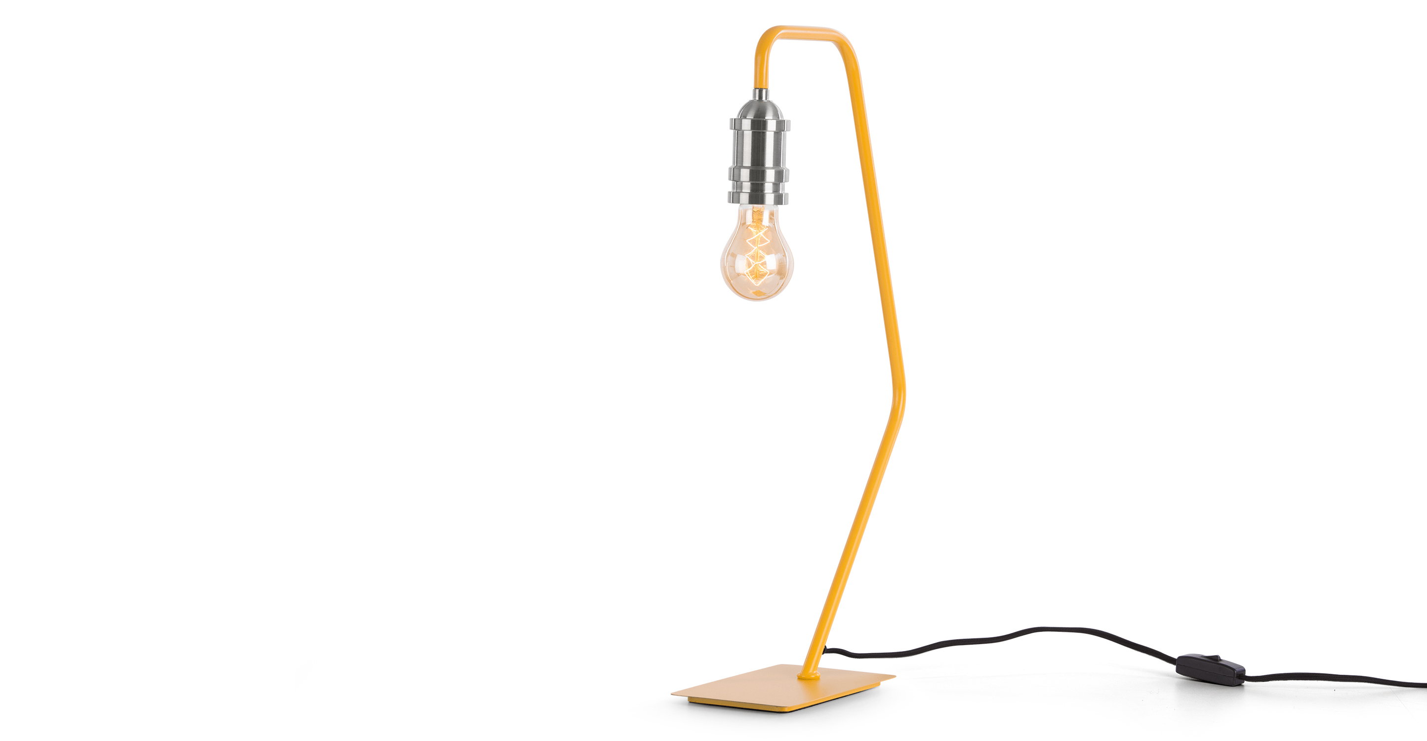 Starkey Table Lamp, Mustard and Nickel Table lamps for