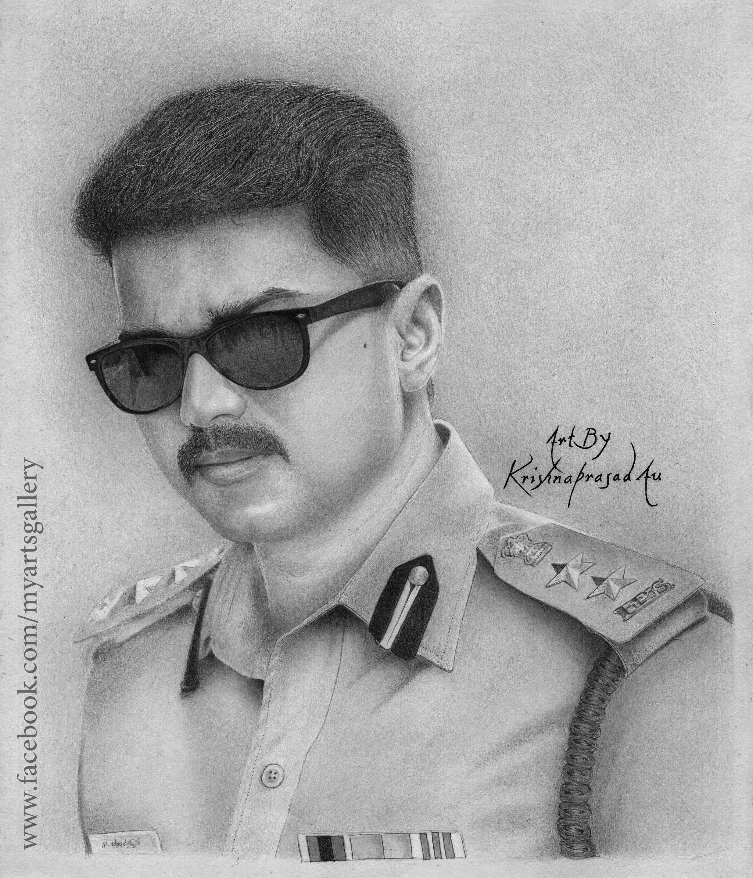 My art work portrait of actor vijay pencils faber castell 8b6b2b camlin h10b mechanical pencil size a4