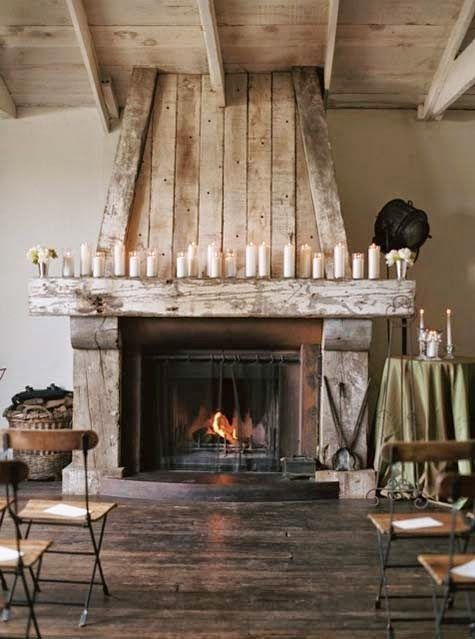 Beautiful fireplace with the rustic wood surround! | For the Home ...