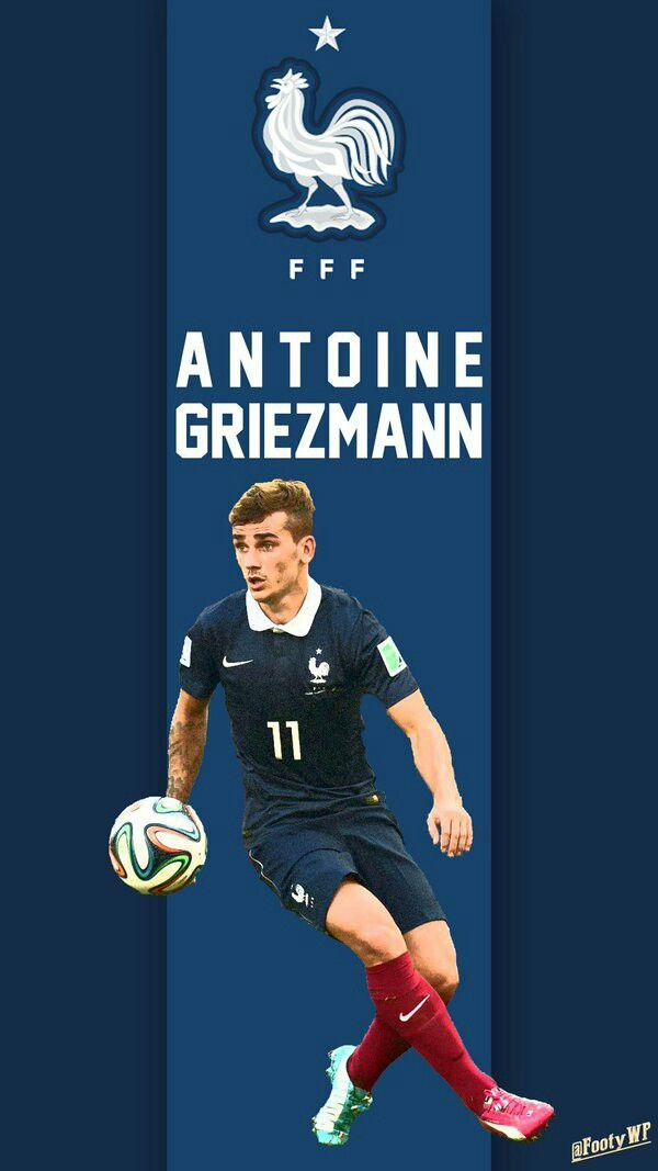 Antoine Griezmann of France wallpaper. France Wallpaper, Antoine Griezmann, Football Wallpaper, Football