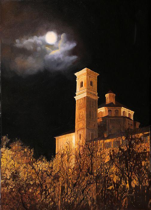 La Luna a Cherasco, province of Cuneo, Italy by Guido Borelli. http://fineartamerica.com