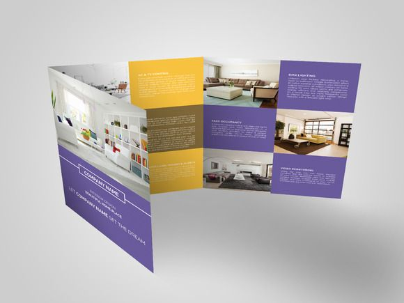 Square Trifold Brochure  Brochure Templates On Creative Market