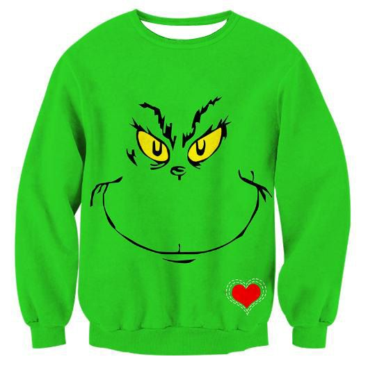 Grinch Christmas Sweatshirt Christmas Party Ideas Pinterest