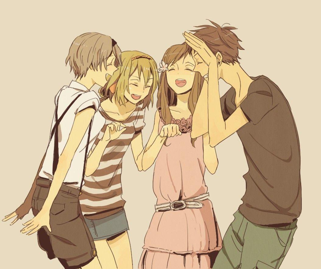 Картинки аниме парня и девушки друзья