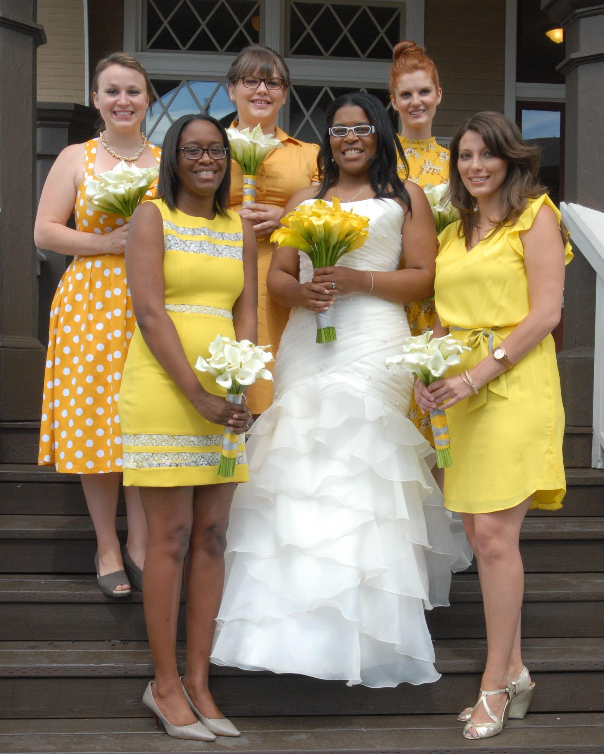Yellow Bridesmaid S Dresses Their Choice Yellow Bridesmaids Bridesmaid Dresses Yellow Bridesmaid Dresses [ 2582 x 2066 Pixel ]
