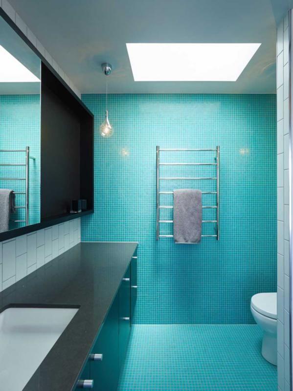 7 cuartos de baño en verde turquesa | Ideas de azulejos de ...