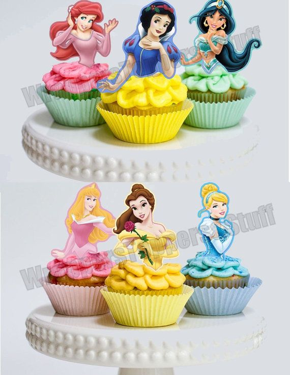 princess cupcake cake printable disney princess cupcake toppers by 6799