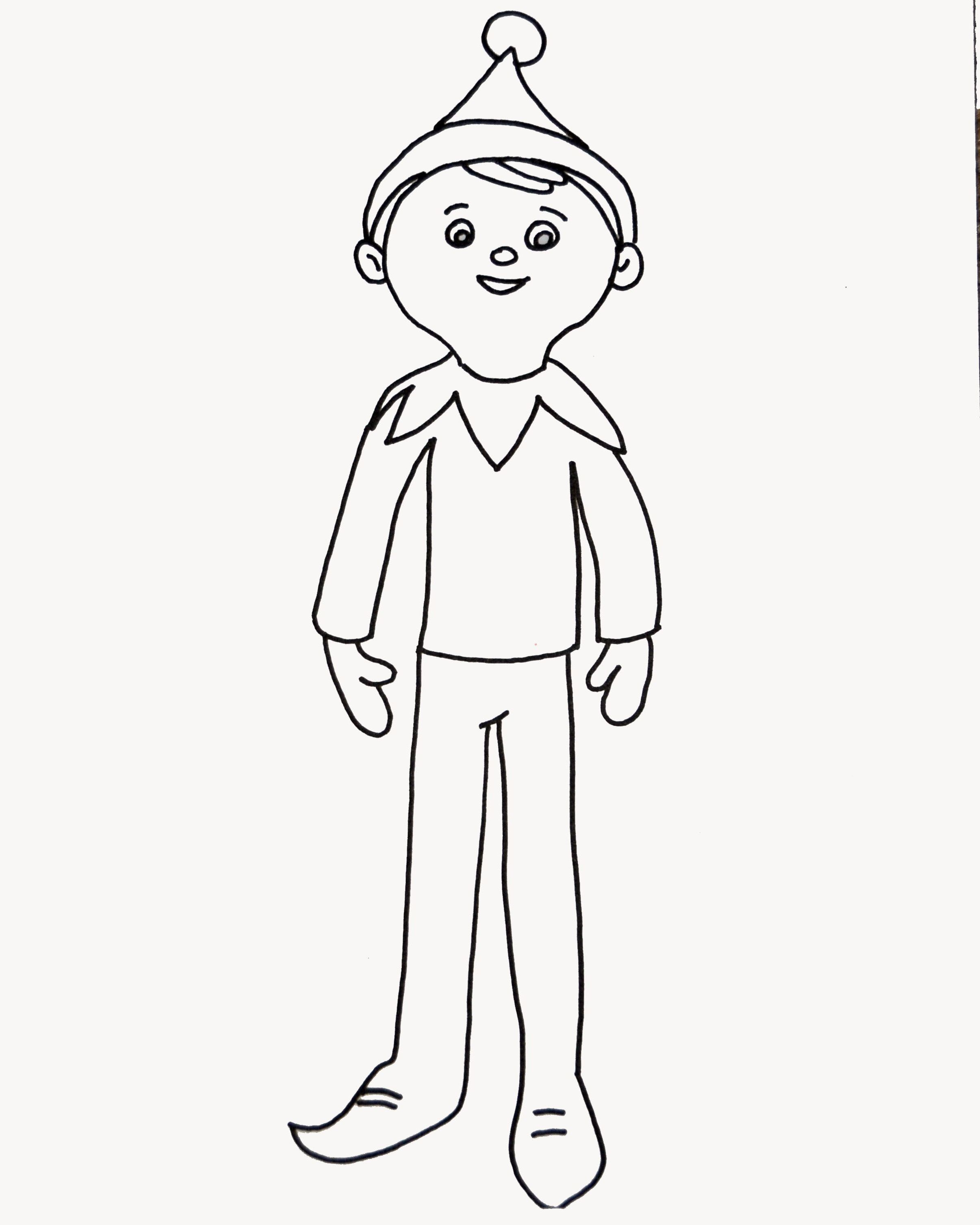 Elf On The Shelf Coloring Sheet New Collection Elf On The