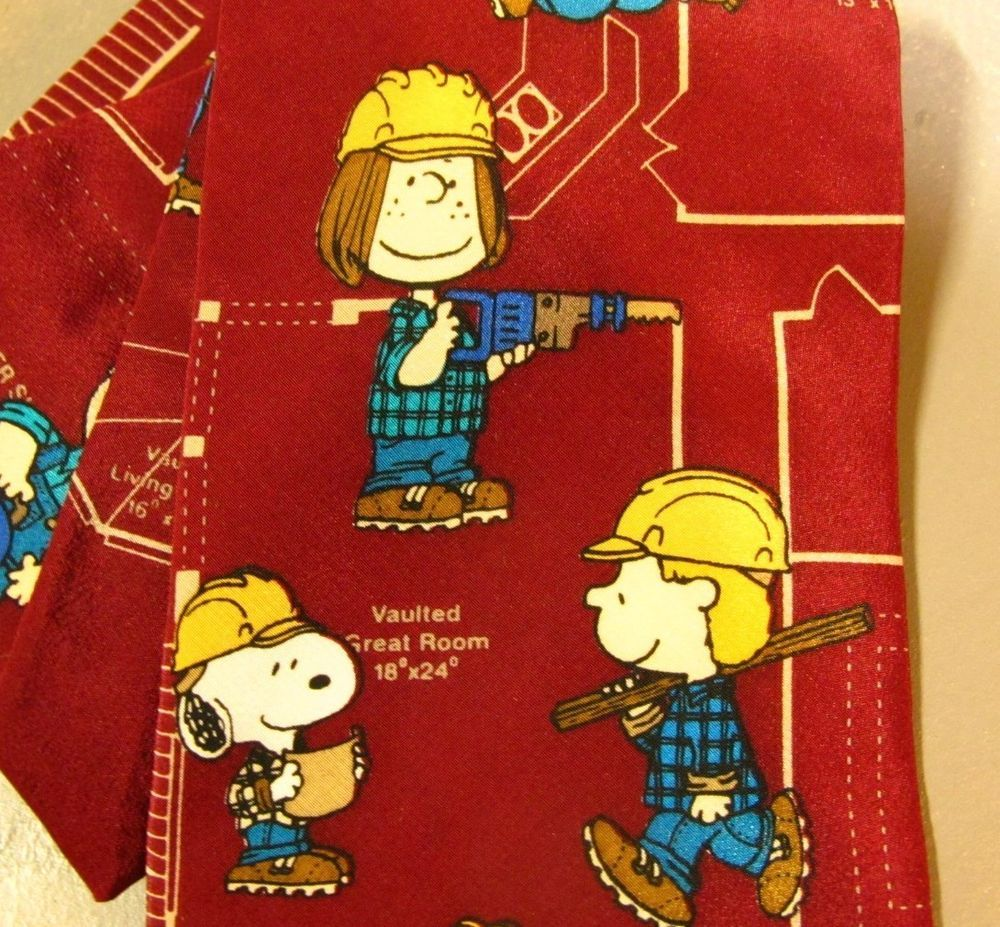Charlie brown construction worker tie peanuts necktie - Charlie brown bilder ...