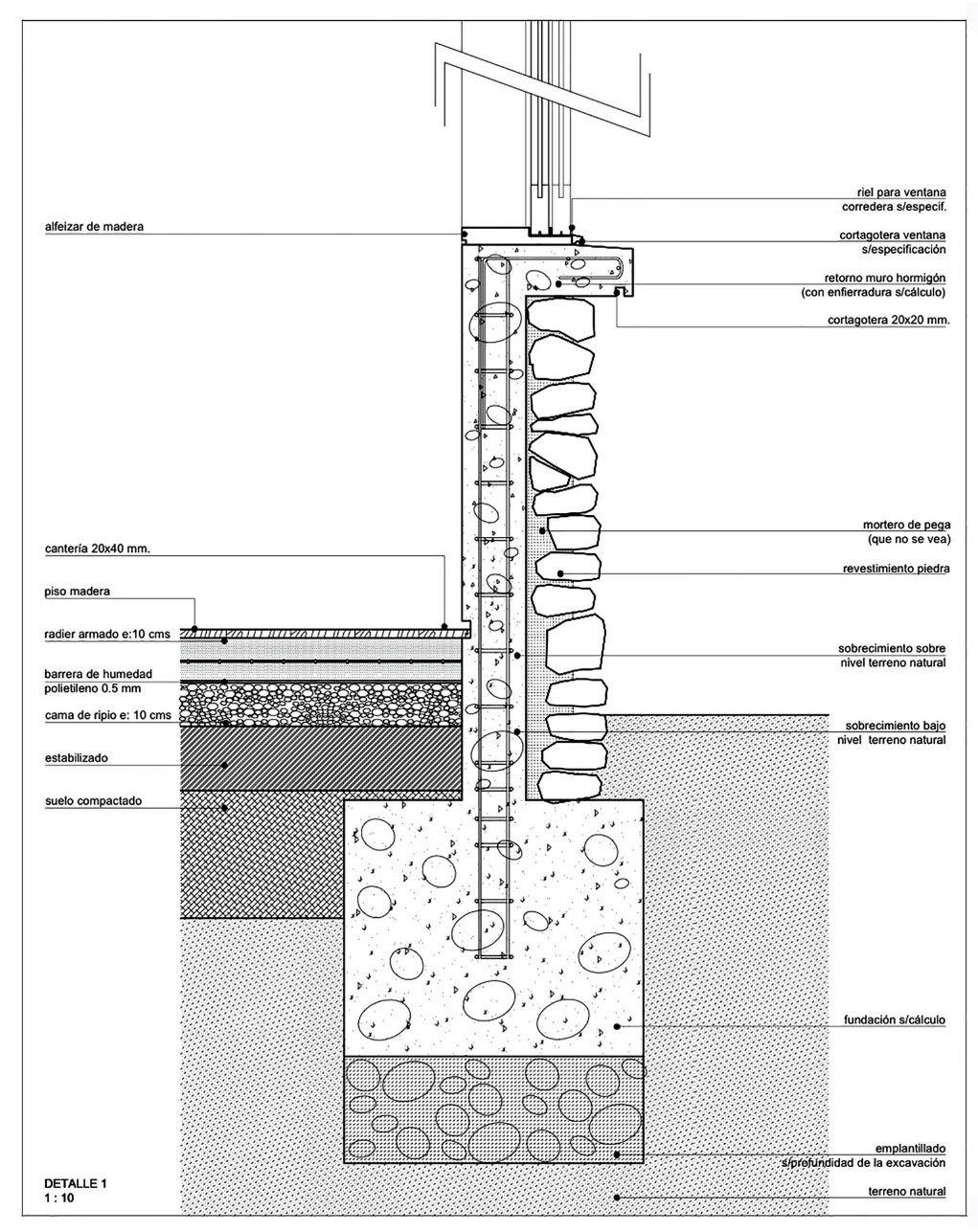 Dise o de casa de campo de un piso con estructura de for Planos estructurales pdf
