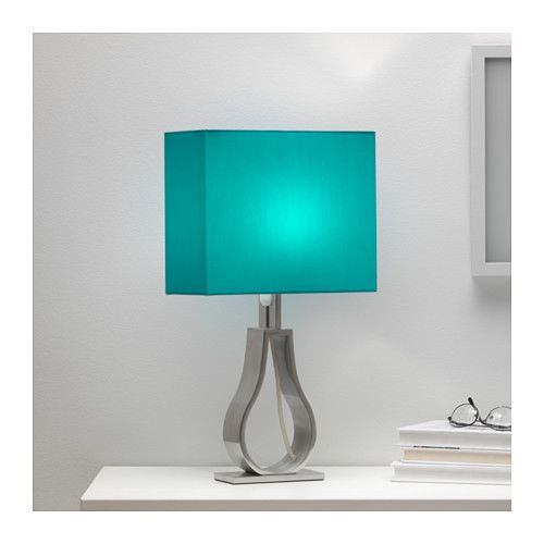 IKEA KLABB Table Lamp Turquoise You Can Create A Soft Cosy Atmosphere In Your Home With Textile Shade That Spreads Diffused And Decorative Light
