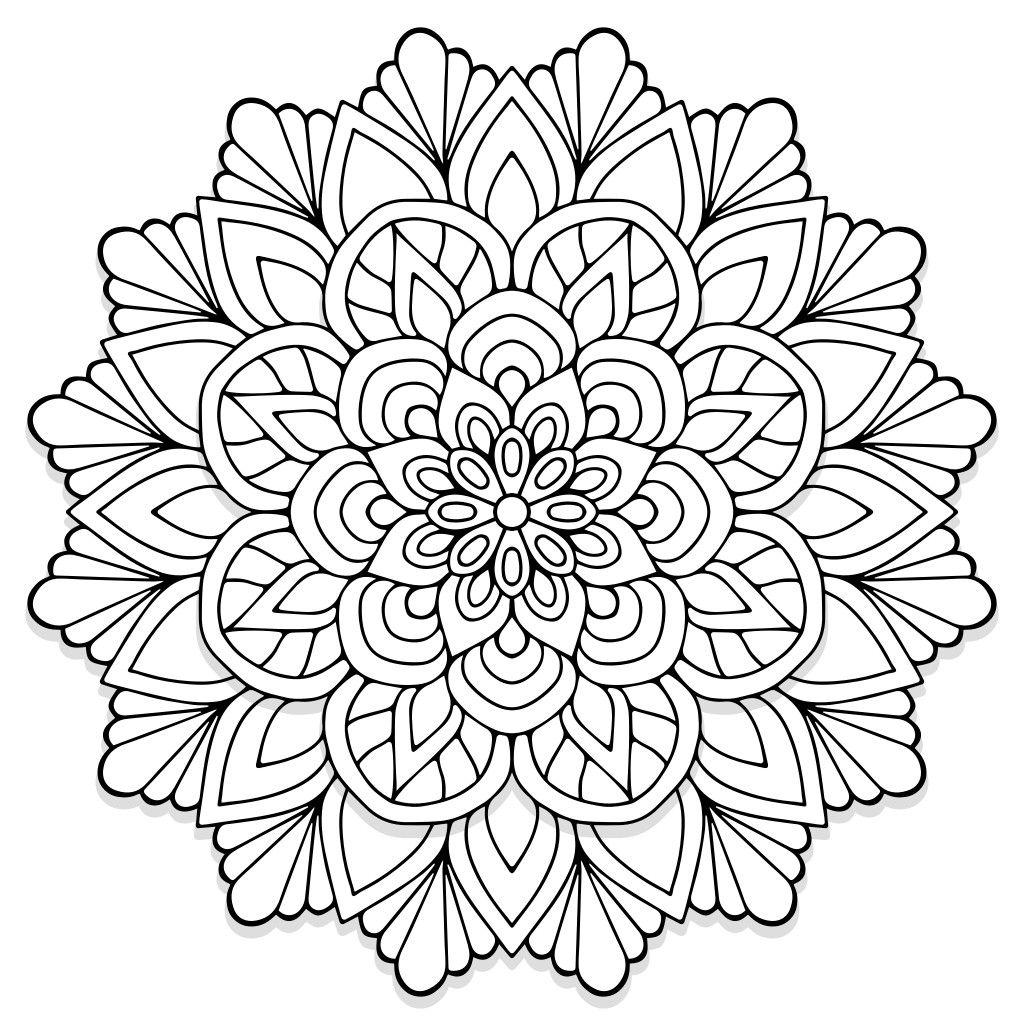 Mandala design from colorfeel app | Mandala coloring books ...