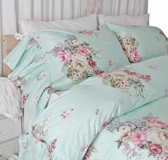 Shabby Ruffled Duvet Cover Chic Bedding Sets Queen King Twin Chic Bedding Shabby Chic Bedding Shabby Chic Bedding Sets