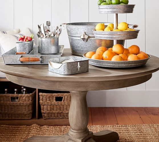 Owen Extending Pedestal Dining Table Antique White In