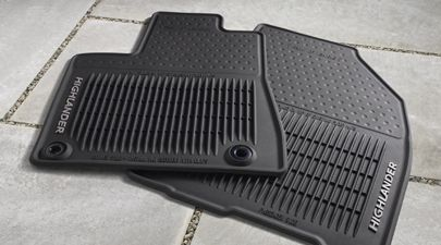 Black Genuine Toyota Accessories PT908-34120-20 Front All-Weather Floor Mat - Set of 2