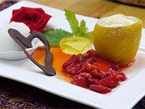 leckeres hessen 2013 | Rezepte: Kandierte Amalfi-Zitrone gefüllt mit Zitronen-Parfait an Eiswein-Sorbet