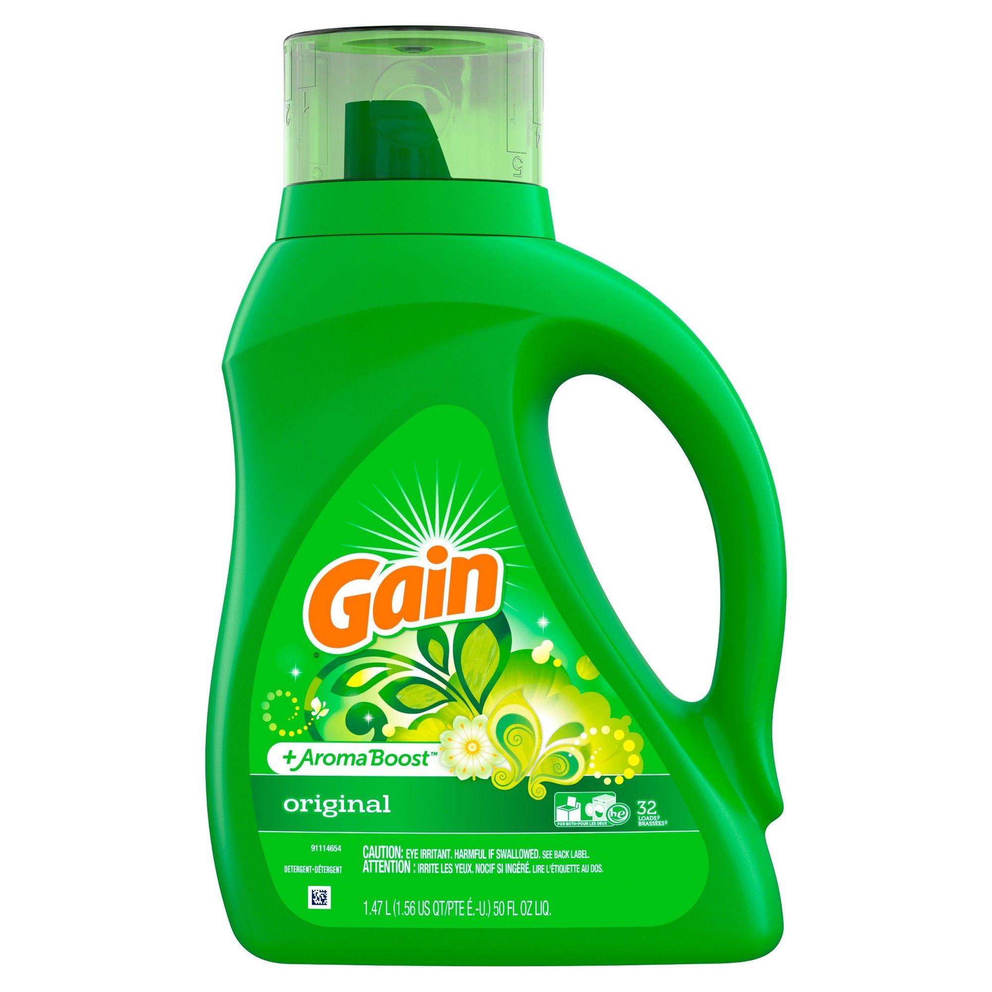 Gain Hec Original Liquid Laundry Detergent 50oz In 2020 Liquid