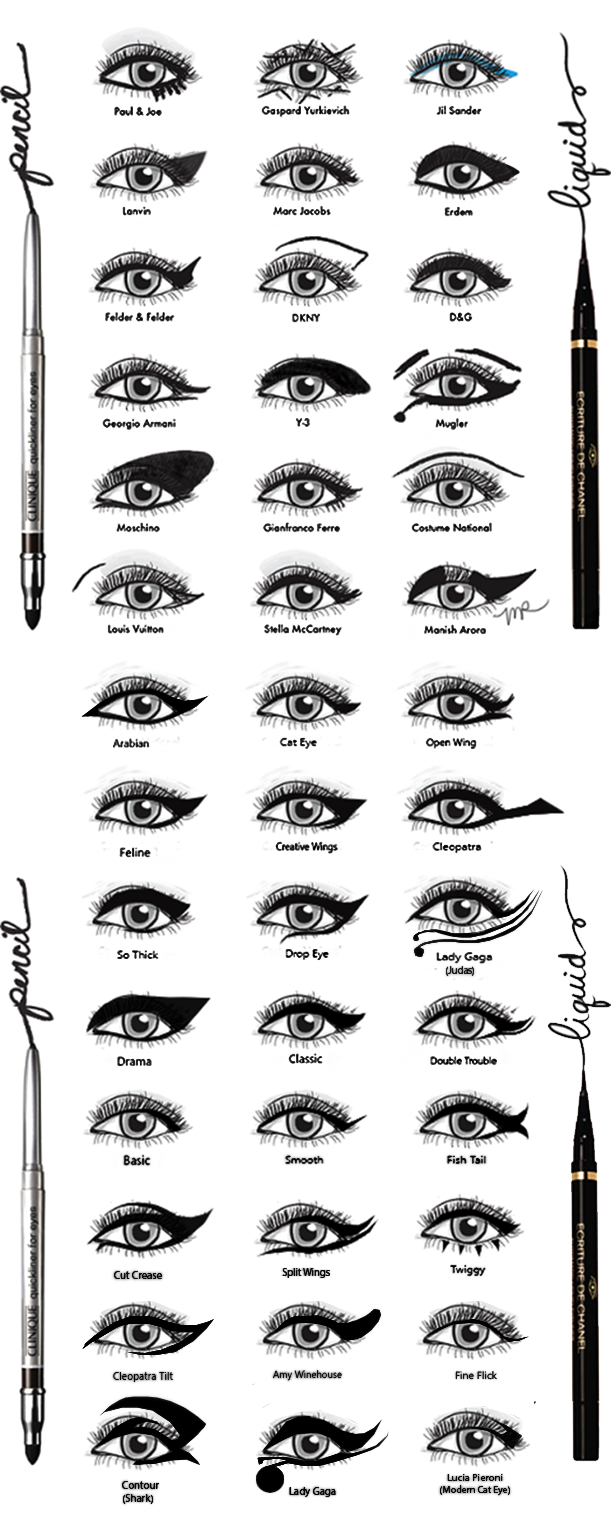 Eyeliner Styles by DamnBlackHeartdeviantartcom on deviantART