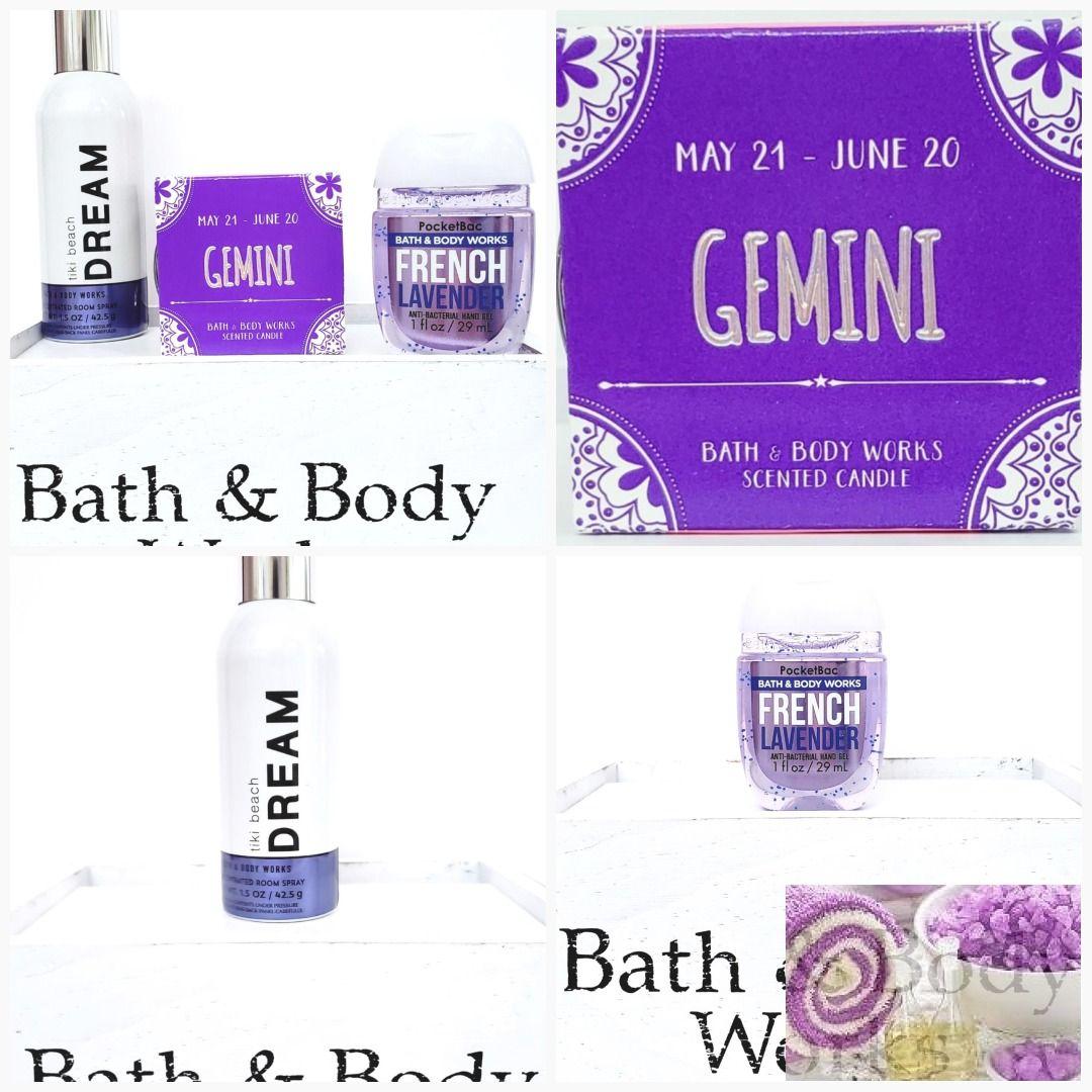 Bath Body Works Zodiac Gemini Mini Candle Beautiful Day Room