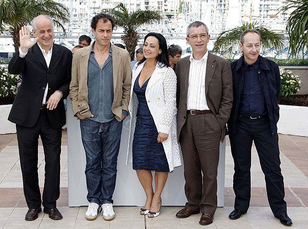Toni Servillo, Matteo Garrone, Maria Nazionale, Gianfelice Imparato & Salvatore Cantalupo [GOMORRA (Matteo Garrone, 2008)]