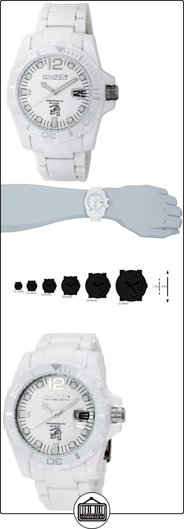 1746efa6e05a Haurex Italy Caimano - Reloj analógico de caballero de cuarzo con correa de  plástico blanca ✿ Relojes para hombre - (Lujo) ✿