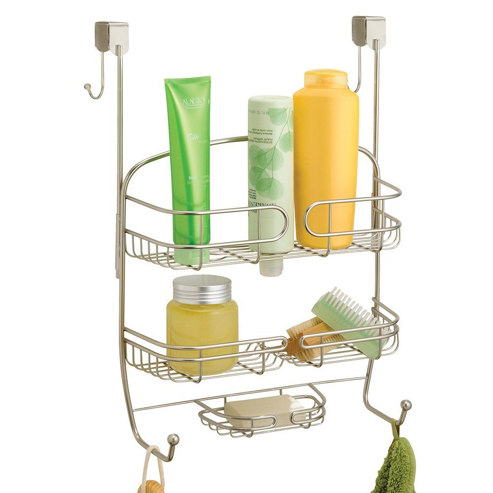 InterDesign Satin Neo Over Shower Door Caddy: Amazon.co.uk: Kitchen ...
