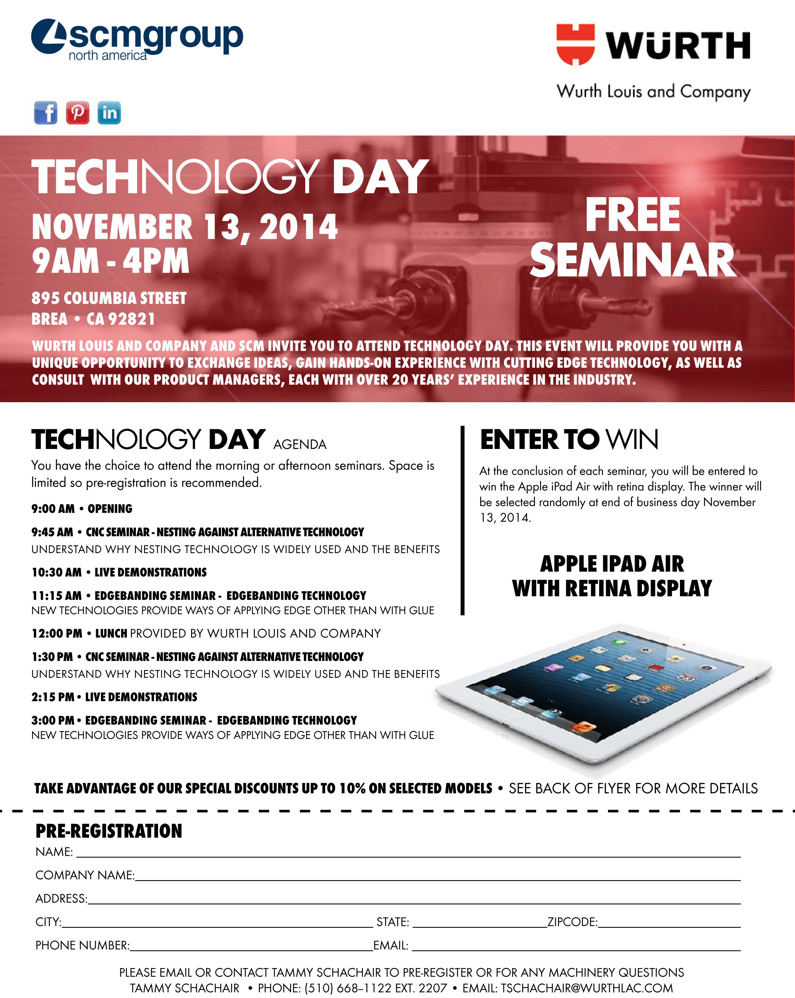 Wurh Louis And Company Is Planning The First Machinery Seminars At