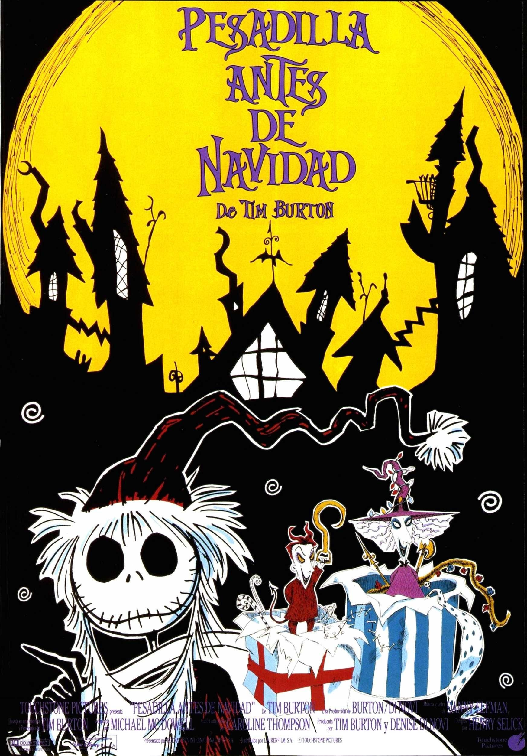 Official Spanish movie's poster Nightmare before
