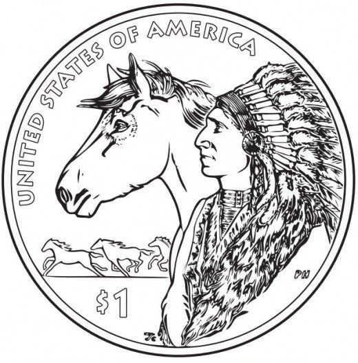Native ♡♡ us mint quarter native american coloring page