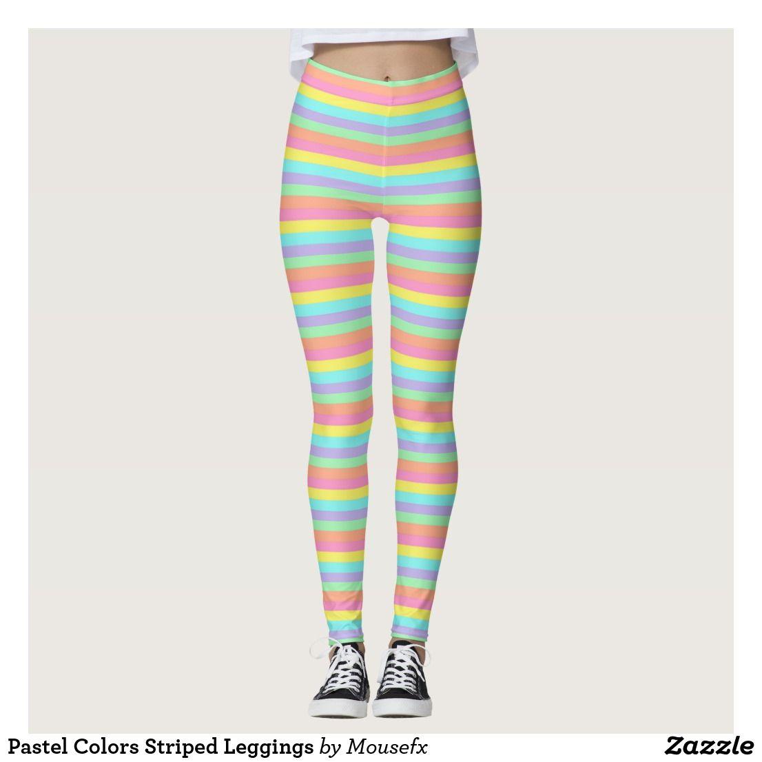 3f38545cdf646 Pastel Colors Striped Leggings | Zazzle.com | Gotta Have These ...
