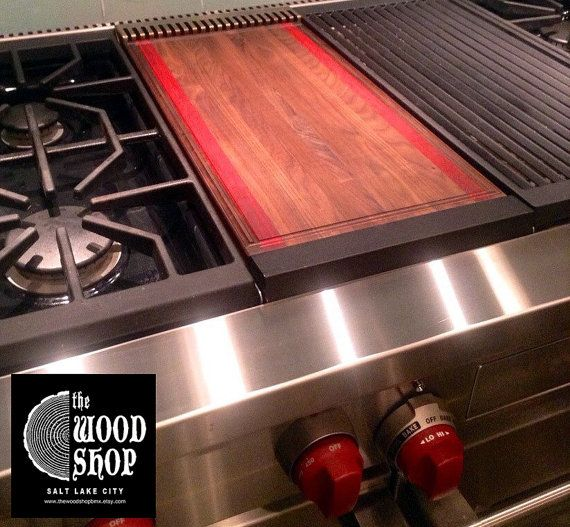ON SALE  Cutting Board  Custom Made to Fit Wolf by TheWoodShopBMX