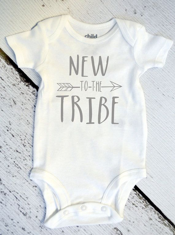 77970bcbd63c New to the Tribe   Baby Bodysuit   Gender Neutral Baby Clothes ...