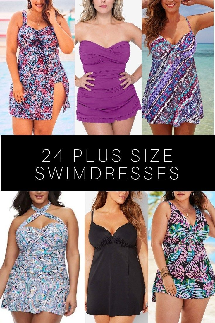 24 Plus Size Swimdresses - Alexa Webb 15