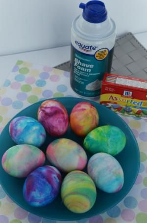 Frothy fun dyeing easter eggs in shaving cream easter egg and foods dyeing easter eggs using shaving cream and food color to make swirly colors forumfinder Image collections