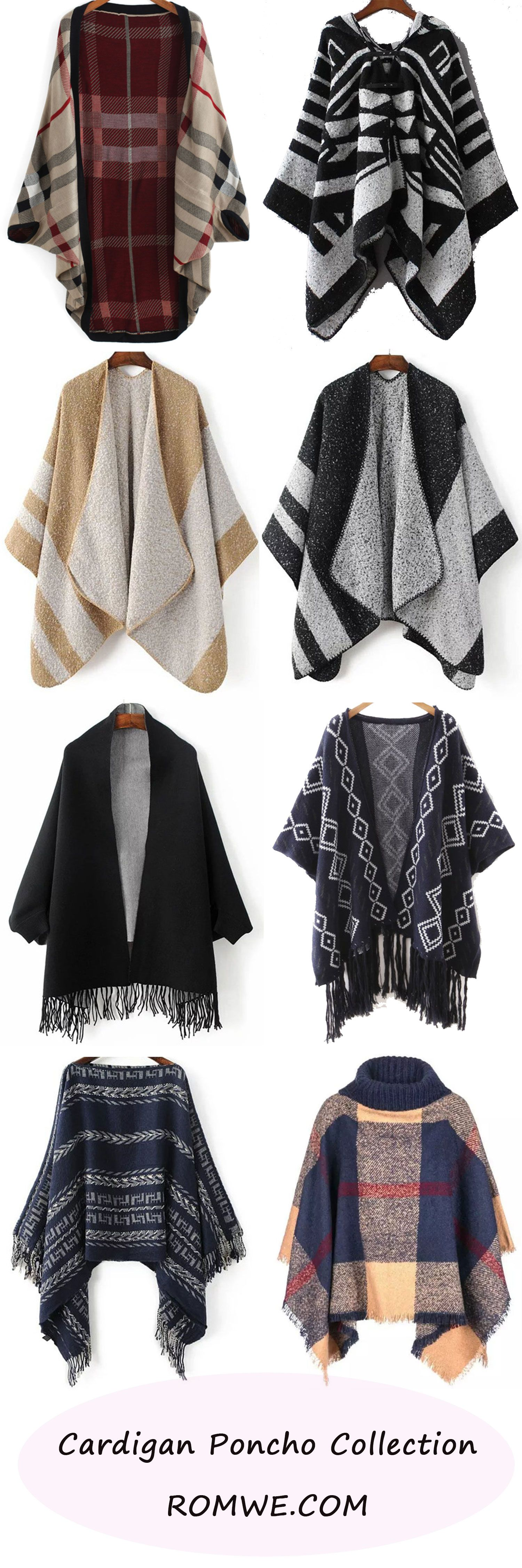 Cardigan Poncho Collection 2016 - romwe.com | DressMeUp in 2019 ...