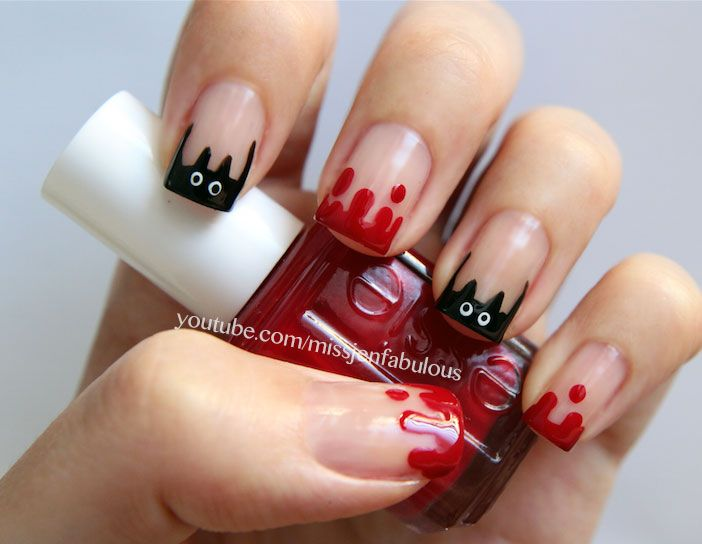 Bat Nail Art - Bat Nail Art (TheFabFox By Jenny Claire Fox) Nailed The Nails