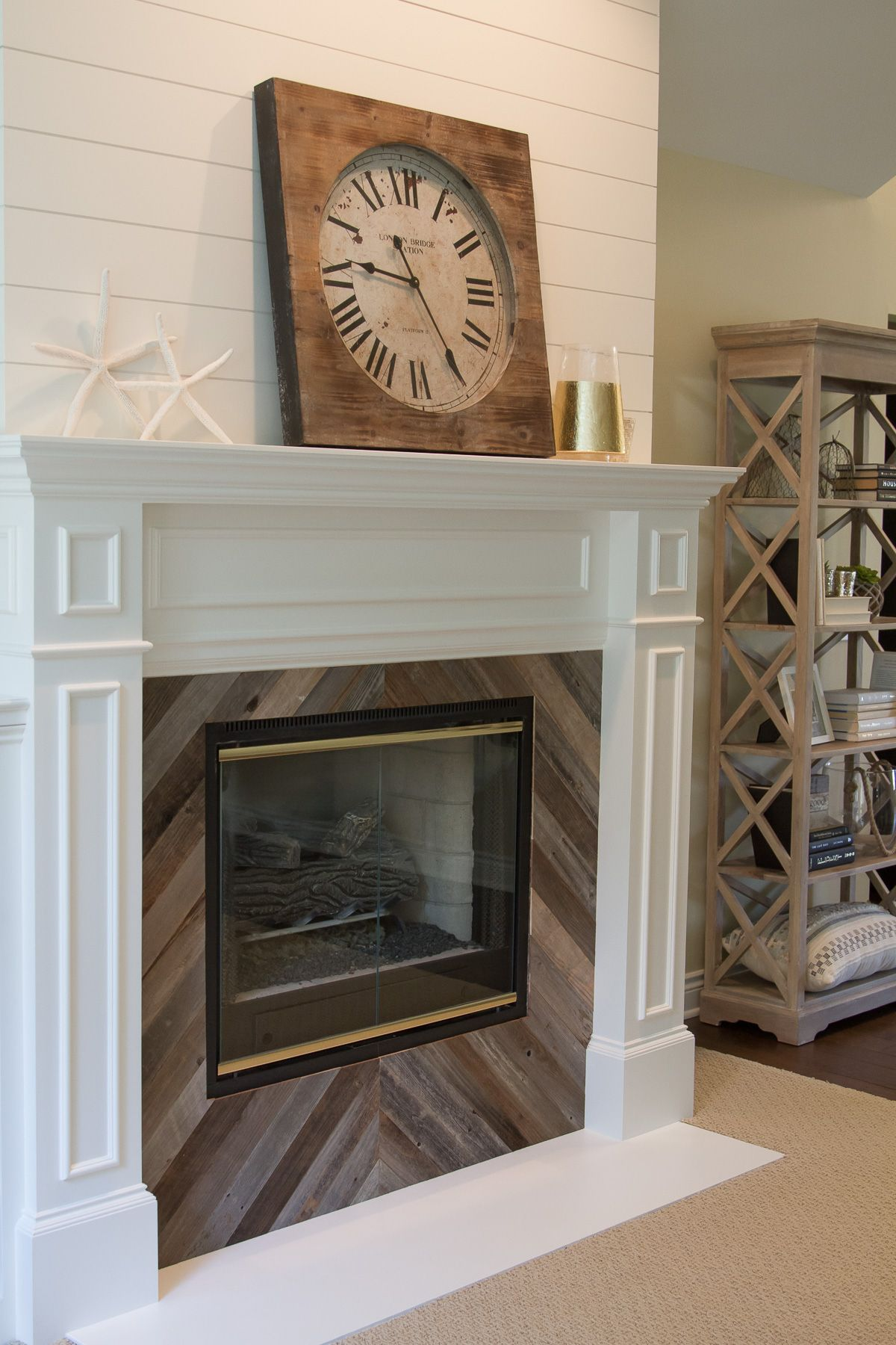 Simple Fireplace Surround DIY Fireplace surround diy