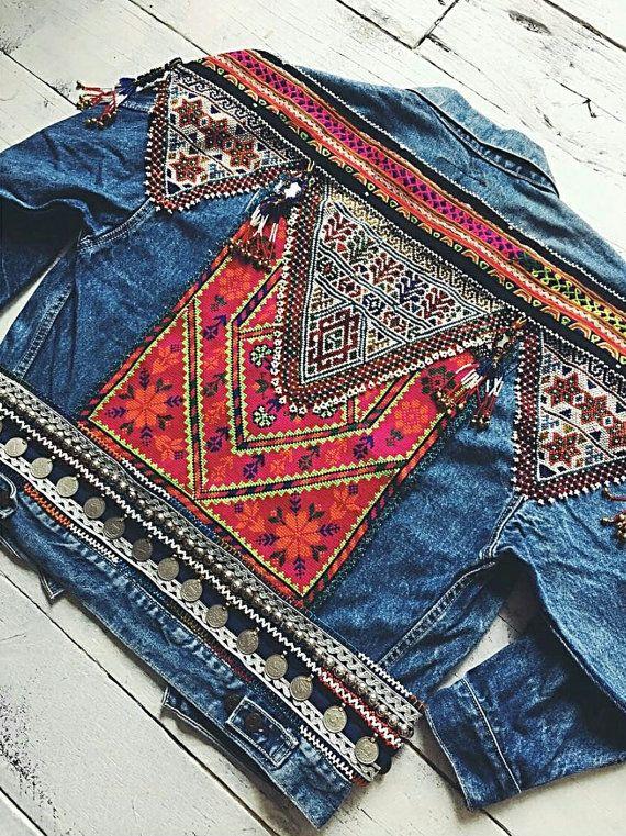 Tribal denim Jacket