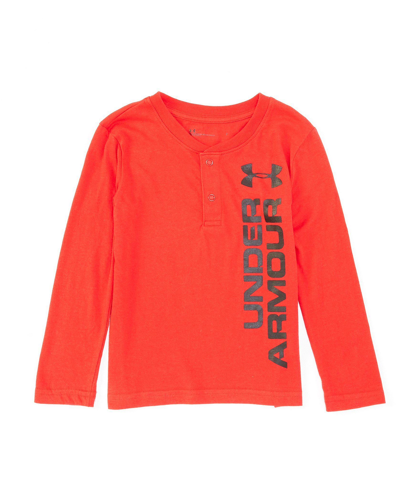 Under Armour Boys Long Sleeve Henley Tee Shirt