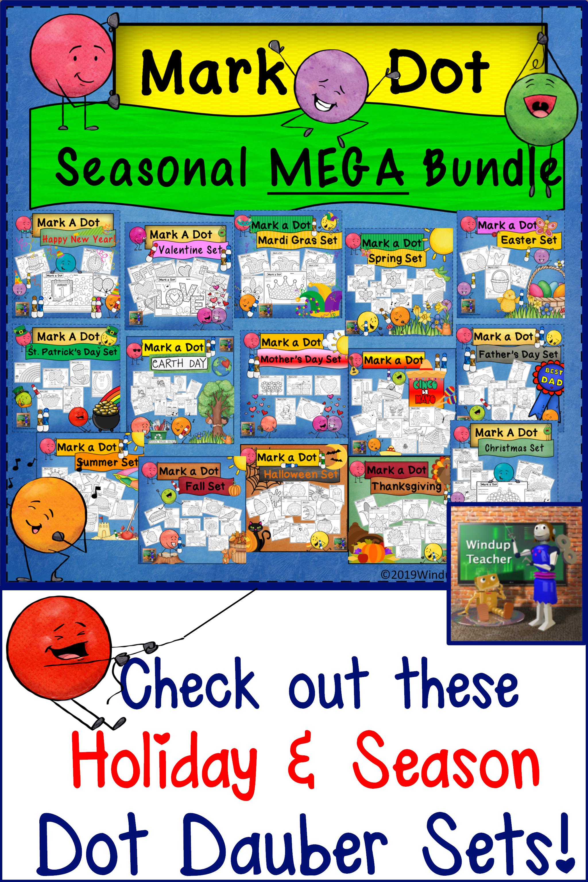 Dot Dauber Seasonal And Holiday Mega Bundle In