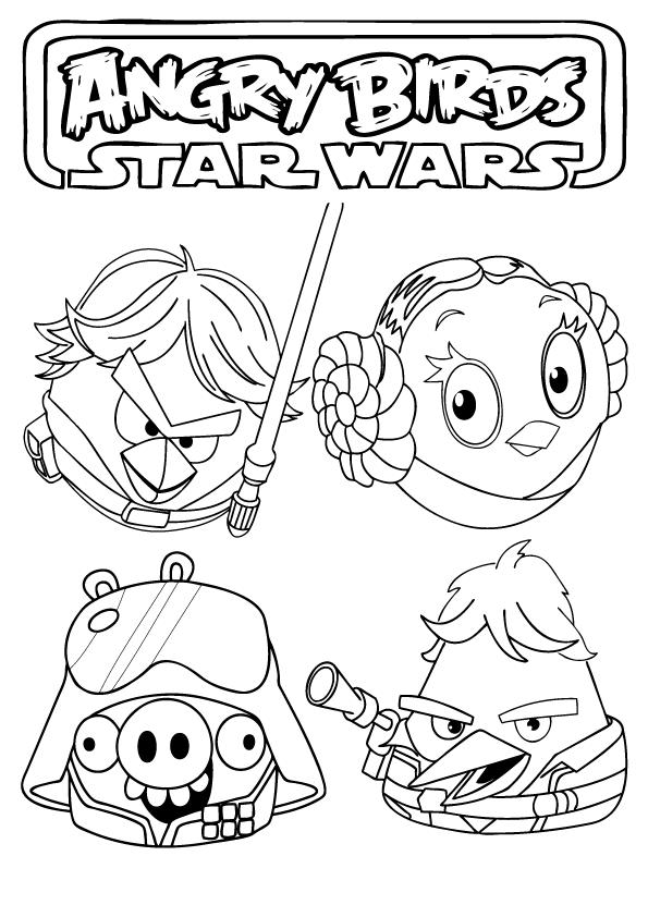 Malvorlagen Bilder Von Star Wars Zum Ausmalen Und Drucken Kostenlose Ausmalbilder Und Malvorlagen Z Angry Birds Star Wars Bird Coloring Pages Star Wars Crafts