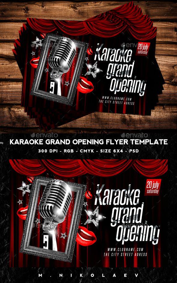 Karaoke Flyer  Karaoke Flyer Size And Graphics