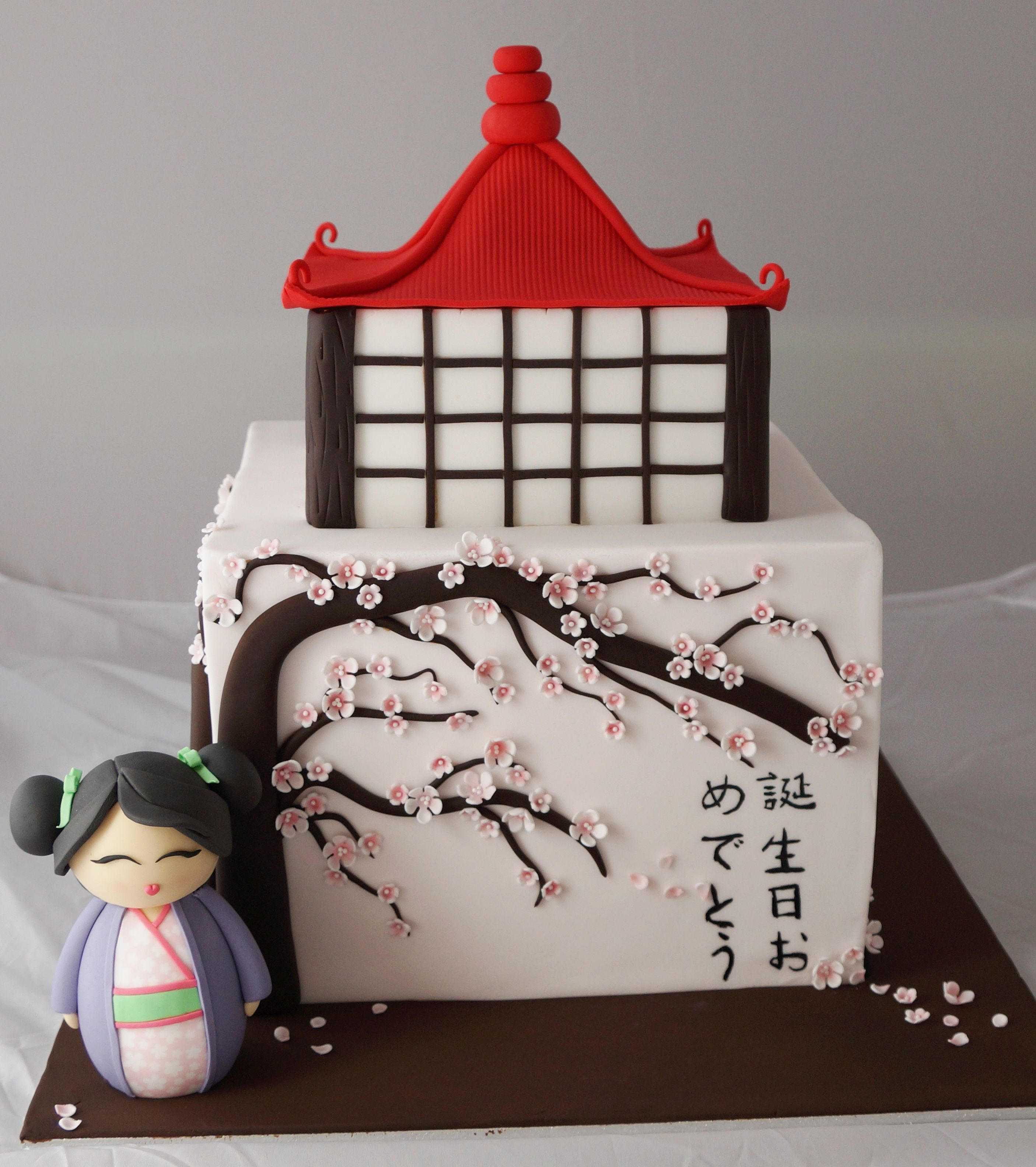 Fantastic Japanese Theme Cake Kellys Cake Toppers Pinterest Japan Funny Birthday Cards Online Inifofree Goldxyz